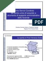 Giorgio Ros, direttore centrale salute e protezione sociale Regione FVG