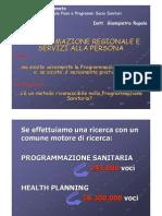 Gianpietro Rupolo, dirigente regionale Direzione Piani e Programmi sociosanitari Regione Veneto