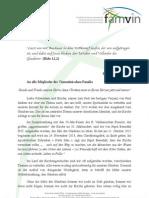 GLAUBEN - Brief des Generalsuperior der Kongregation der Mission