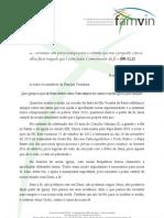 FÉ - Carta do Superior Geral da Congregação da Missão