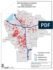 Demolitions in the City of Syracuse July 2002-December 2012