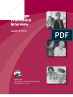 Peace Corps Language Proficiency (LPI) Interview (LPI) Manual for Testers  2005