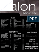 Glamour Secrets Prices for Products and Services