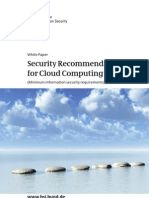 Security Recommendations Cloud Computing Providers