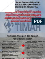 Corporate Social Responsibility (CSR) DALAM OPTIMALISASI
