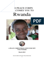 Peace Corps Rwanda Welcome Book - March 2013
