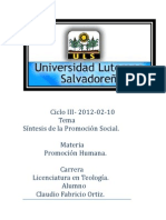 Ciclo III Promocion Humana.