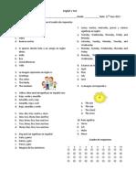 Test de Imgles Caurto Grade 11 Junio 2013