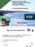 Unidad IV. Soluciones Quimicas 2013