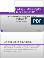 A Background to Digital Marketing for Small Businesses 2012