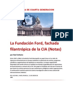 GUERRA DE CUARTA GENERACION- La Fundación Ford, fachada filantrópica de la CIA (Notas)