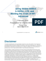Comparing Mobile WiMAX   with HSPA+, LTE, and   Meeting the Goals of IMT-  Advanced