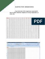Uji Validitas Item Dengan Excel