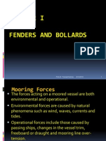 Design of Fenders and Bollards