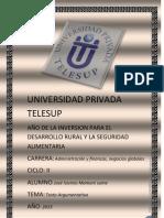 Universidad Privada Telesup Trabajp Grupal Desarrollado