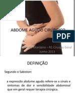 ABDOME AGUDO CIRÚRGICO