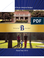 City of Bryan, TX | Adopted Budget | 2013