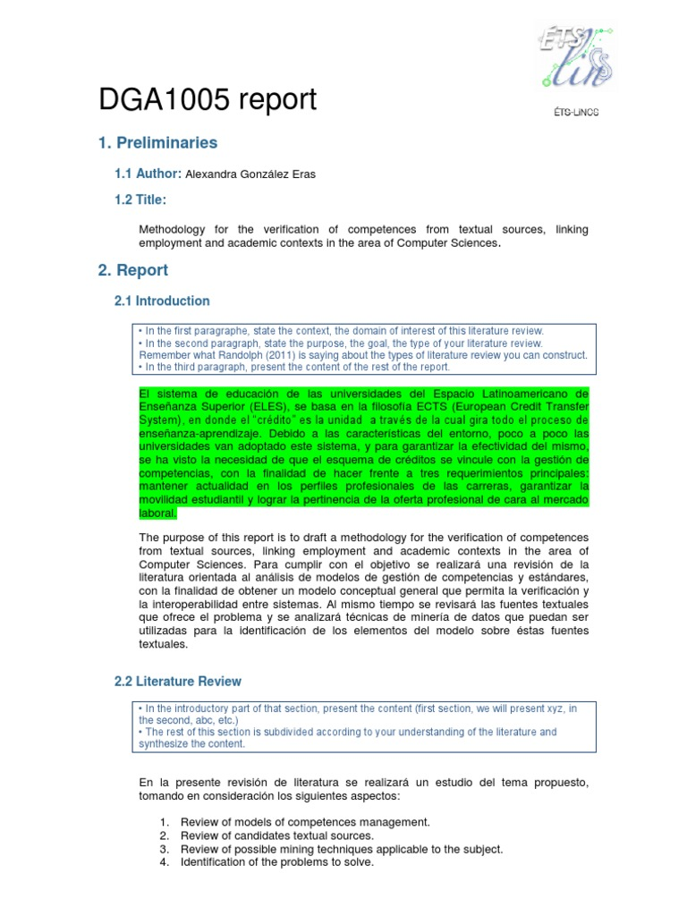 DGA 1005 Report | Ontology (Information Science) | Competence ...
