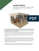 DIY Studio Acoustics Tutorial