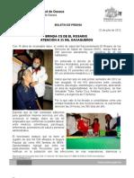 22/07/12 Germán Tenorio Vasconcelos BRINDA CS DE EL ROSARIO ATENCIÓN A 35 MIL OAXAQUEÑOS