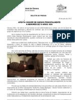 26/07/12 Germán Tenorio Vasconcelos AFECTA CÁNCER DE HUESOS PRINCIPALMENTE A MENORES DE EDAD, SSO