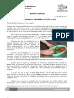 27/07/12 Germán Tenorio Vasconcelos HÁBITOS HIGIÉNICOS PREVIENEN HEPATITIS A
