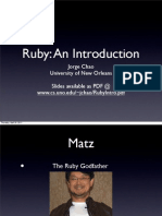 Ruby Intro Presentation