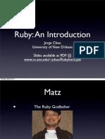 Ruby Intro Presentation