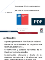 Clase Planificacion en Salud y Objetivos Sanitarios
