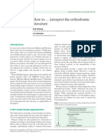 How to … interpret the orthodontic literature