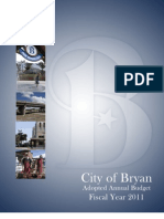 City of Bryan, TX | Adopted Budget | 2011