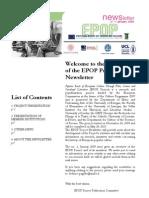 EPOP Newsletter #1 - January 2009
