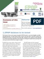 EPOP Newsletter #2 - March 2009