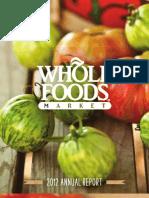 2012-WFM Annual Report