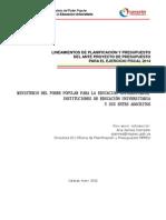 Lineamientos de Planificacion y Presupuesto 2014