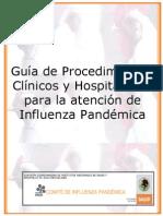Guía de procedimiento clínicos y hospitalarios para la atención de Influenza Pandémica