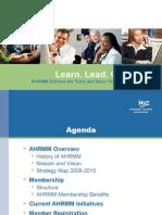 AHRMM Presentation 03-09