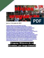 Noticias Uruguayas Jueves 13 de Junio Del 2013
