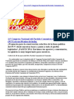 Proyecto de Línea Política al 14º Congreso Nacional del Partido Comunista de Venezuela