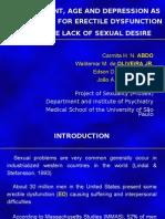 Data Show - Unemployment, Age and Depression as Risk Factors
