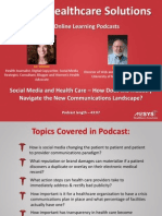 Health Care and Social Media - How Does the Industry Navigate the New Landscape?