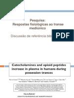 Apresentação artigo catecolaminas