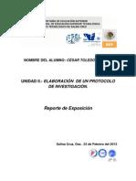 Reporte de Expoosicion.- Cesar Toledo Sarabia 1