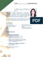 CV Descriptivo Fabiola Eyzaguirre Comunicadora Social 2012