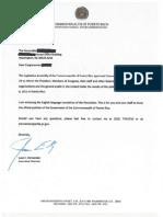 Carta PRFAA a Oficinas Congresionales