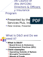 D&O Webinar Slideshow April 2009
