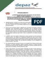 Nota de Prensa 13-06-13 - Pronunciamiento Dia Huaquillas