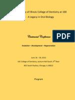oral biology centennial brochure 1
