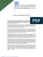 Izquierda Plural - Proposición no de ley relativa al Consejo Europeo