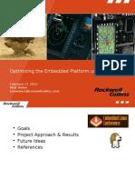 Optimizing the Embedded Platform Using OpenCV